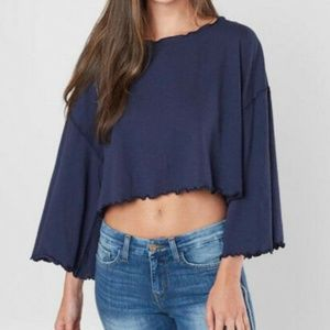 NEW Free People Cropped Bird Gang Tee Small